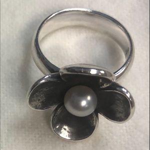 James Avery flower blossom ring